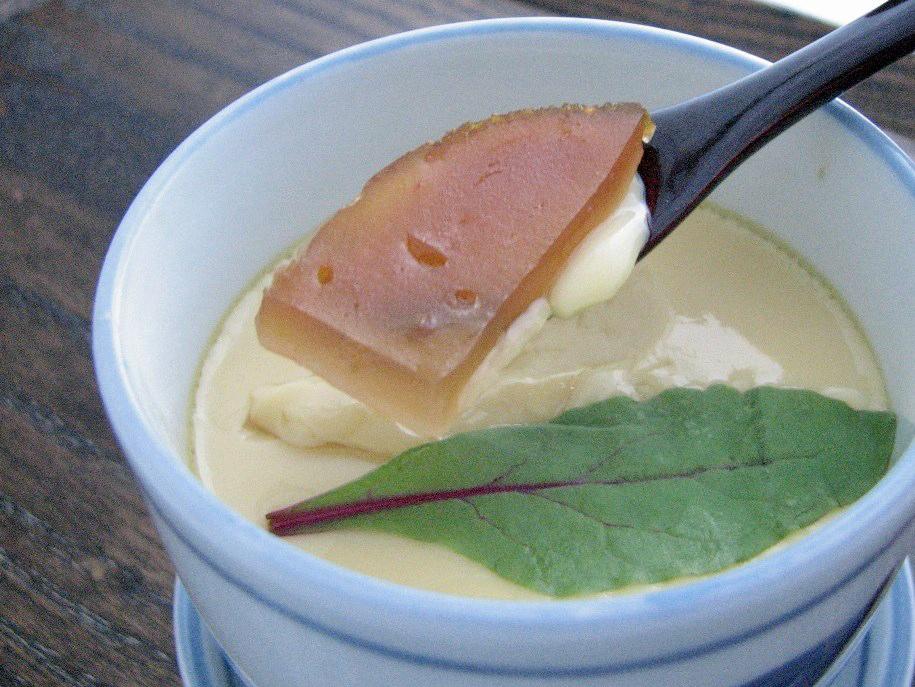 丸柚餅子の味わい方(茶碗蒸し) - 柚餅子総本家中浦屋